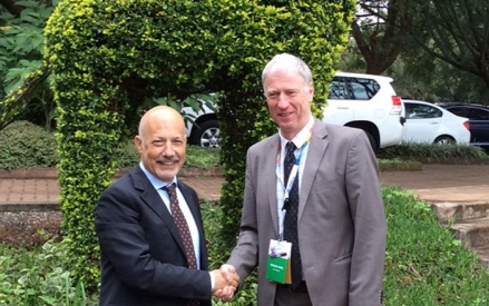 Mr Gaetano Leone, Coordinator of the UNEP/MAP and Hans Bruyninckx, Executive Director at the EEA