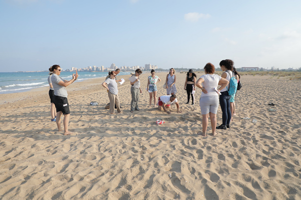 Training on marine turtle monitoring in the Tyre Coast Nature Reserve ©SPA/RAC